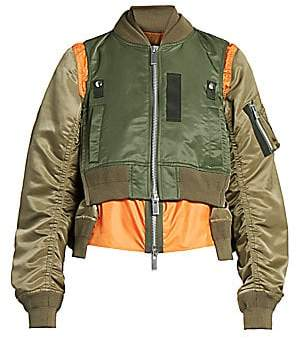Sacai Women's Layered Bomber Jacket