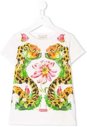 Gucci Kids snake print T-shirt