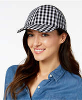 INC International Concepts Gingham Bow-Back Baseball Cap, Created for Macy's