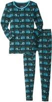 Kickee Pants Print Pajama Set (Toddler/Kid) - Camping Fox - 7 Years
