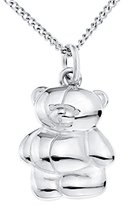 Forever Friends Bear Sterling Silver Pendant on 40cm Chain