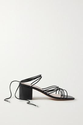 PORTE & PAIRE Woven Leather Sandals - Black