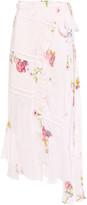 Thumbnail for your product : Preen Line Kalifa Asymmetric Floral-print Crepe De Chine Midi Wrap Skirt