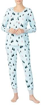 Kate Spade Printed Long Jogger Pajama Set