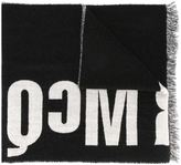 McQ by Alexander McQueen colour block logo scarf - men - Polyamide/Wool/Virgin Wool - One Size
