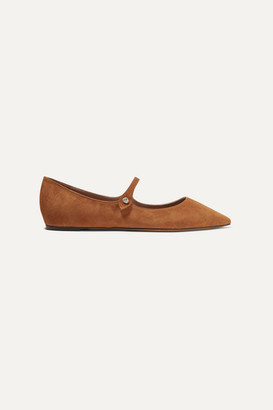 Tabitha Simmons Hermione Suede Point-toe Flats - Tan