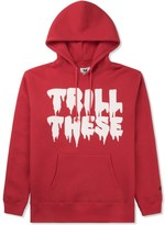 Mark McNairy for Heather Grey Wall Red Trill These Print Parka Hoodie