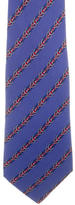Hermes Striped Silk Tie