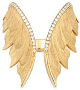 Stephen Webster Magnipheasant 18k Diamond Open Wing Ring
