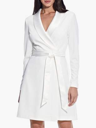 Adrianna Papell Knit Crepe Collared A-Line Dress