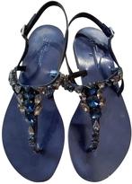 Salvatore Ferragamo Blueberry Calf My Treasure Thong Flat Sandals