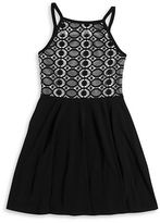 Sally Miller Girls 7-16 Lace Two-Tone Dress