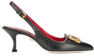 Dolce & Gabbana Logo Slingback Pumps