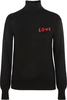 Love Moschino Beaded silk-blend turtleneck sweater