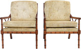 One Kings Lane Vintage Faux-Bamboo Club Chairs, Pair