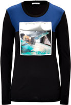 Iceberg Long Sleeve Printed Top