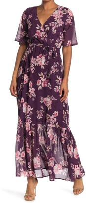 One One Six Wrap Front Full Length Dress