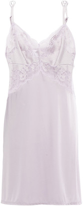 Wacoal Lace-trimmed Stretch-jersey And Satin Chemise
