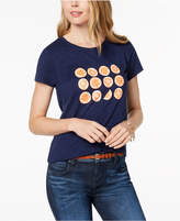 Maison Jules Short-Sleeve Orange-Graphic T-Shirt, Created for Macy's