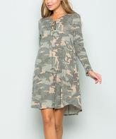 Sweet Pea Camouflage Swing Dress - Plus
