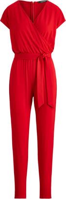 Ralph Lauren Stretch Faux-Wrap Jumpsuit