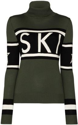 Perfect Moment Ski intarsia-knit turtleneck jumper