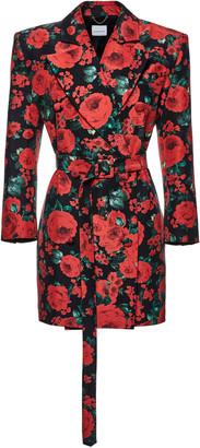 Magda Butrym Kosovo Floral-Print Silk Blazer Dress