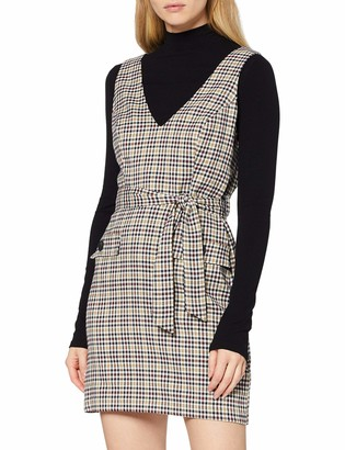 Miss Selfridge Women's Belt Check Pinny Dress