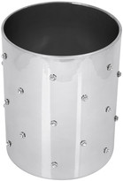 Mike and Ally Mike + Ally - Nova Jewelled Glass Waste Basket - Silver