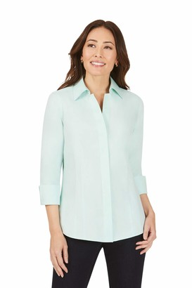 Foxcroft Women's 3/4 Sleeve Button Front Shirt