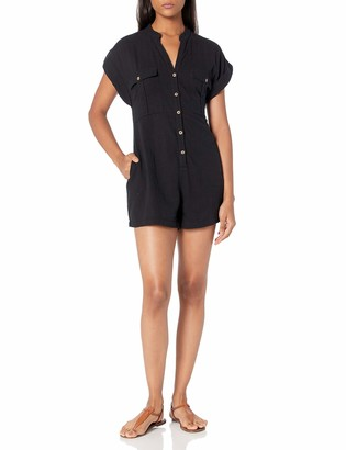Seafolly Women's Button Front Romper Swimsuit Cover Up
