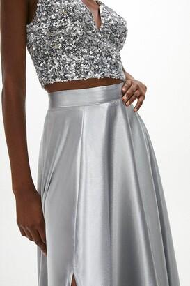 Coast Satin Maxi Skirt