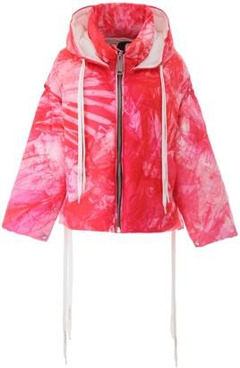 KHRISJOY Tie Dye Effect Padded Jacket