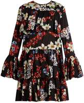 MSGM Floral-print tiered-hem cotton dress