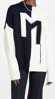 Monse Crooked M Pullover Sweater