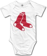 Enlove Boston Red Sox BABY Cartoon Short Sleeves Variety Baby Onesies Bodysuit For Girls