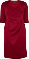 Evans **Scarlett & Jo Burgundy Ponte Bodycon Dress