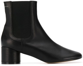 MM6 MAISON MARGIELA block heel Chelsea boots
