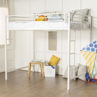 We Furniture Walker Edison Full Size Premium Metal Loft Bed - Black