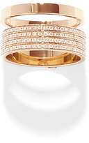 Repossi Technical Berbè;re Diamond Band Ring in 18K Gold