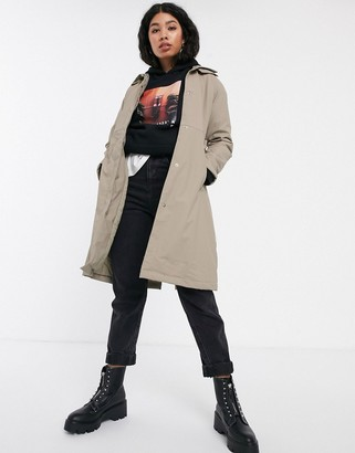 Rains belted trench coat