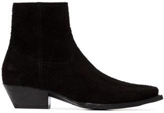 Saint Laurent Lukas 40mm suede cowboy ankle boots