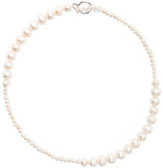 WWW.WILLSHOTT Off-White Pearl Alternating Necklace