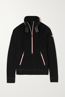 MONCLER GRENOBLE Shell-trimmed Fleece Top - Black