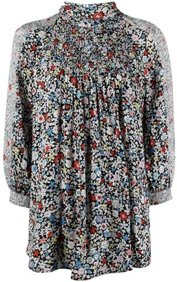 See by Chloe Floral-Print Pleated Blouse