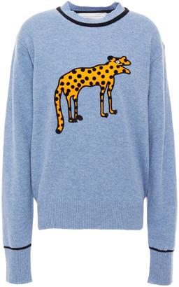 Victoria Victoria Beckham Appliqued Wool Sweater