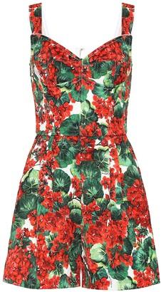 Dolce & Gabbana Floral jacquard playsuit