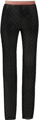 Gucci GG embroidered leggings