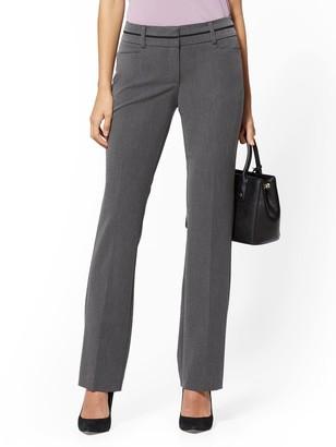 New York & Co. Tall Mid Rise - Straight-Leg Pant - Grey - 7th Avenue