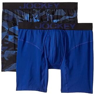 Jockey Athletic Rapidcool Midway Brief 2-Pack (Black) Men's Underwear
